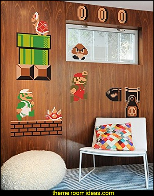 Super Mario Bros. Re-stick Wall Decals
