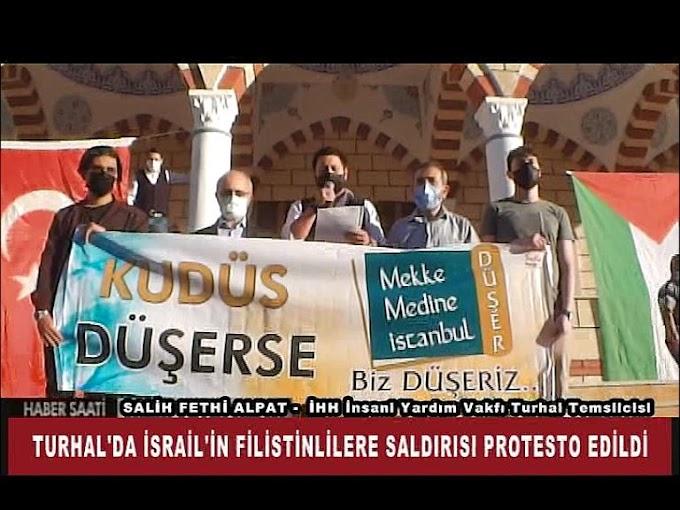 İSRAİL'İN FİLİSTİNLİLERE SALDIRI PROTESTO EDİLDİ