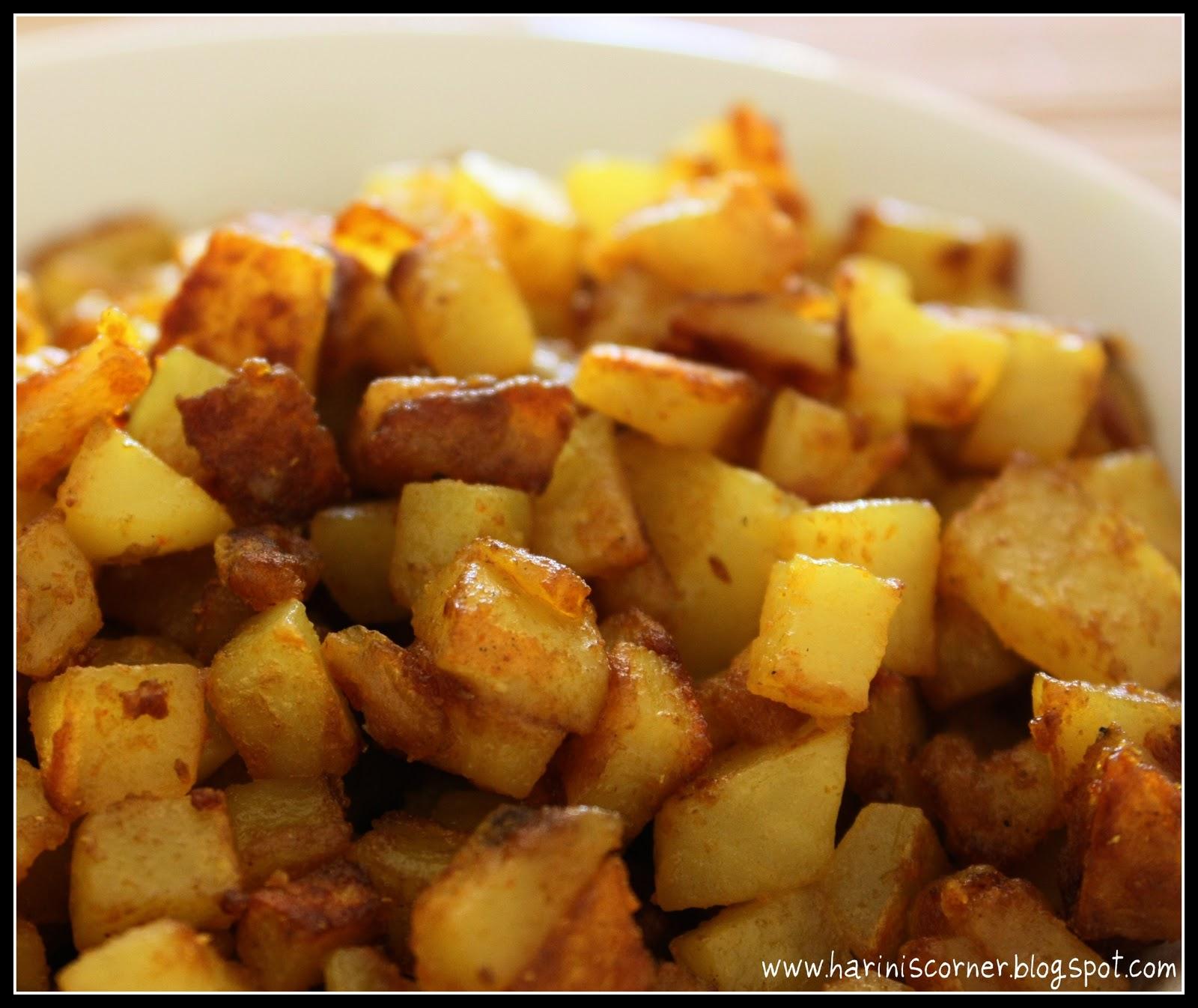 Plain Diced Sweet Potatoes: Sugar & Spice: Potato Curry / Potato Roast / Aloo Roast