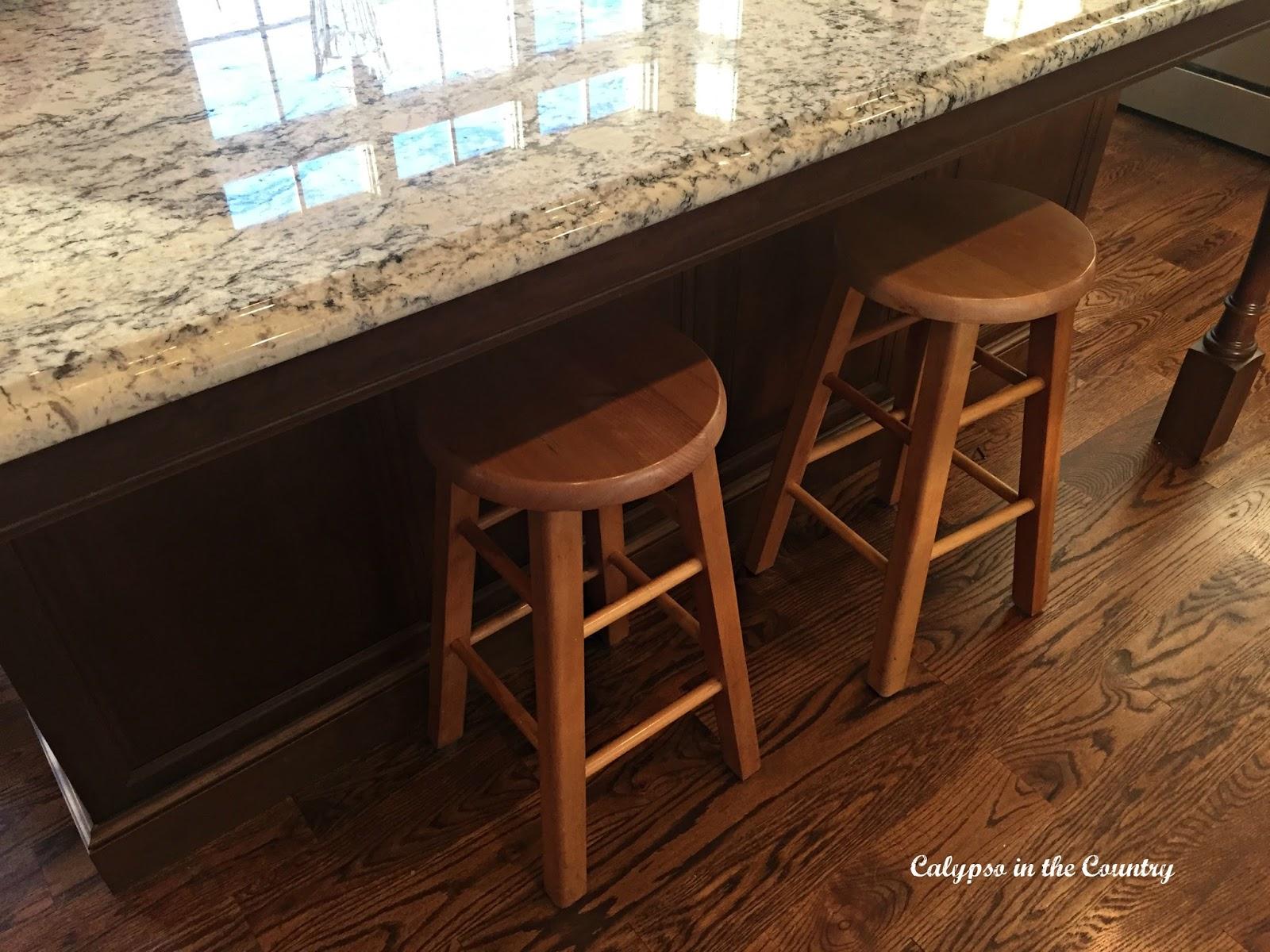 Oak counter stools
