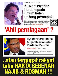 Image result for tengku adnan - isytihar harta ancaman kpd keluarga