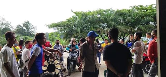 Eks Karyawan PT.MKS Mendatangi Pabrik (Foto: Jul)