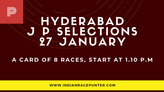 Hyderabad Jackpot Selections 27 January, Jackpot Selections by indianracepunter, free indian horse racing tips