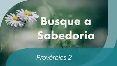 estudo bíblico provérbios 2