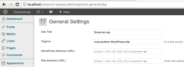 Site Url: Moving Wordpress From Localhost To Live Domain