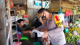 Polres Pangkep Kampanyekan Protokol Kesehatan Guna Pencegahan dan Pengendalian Covid-19