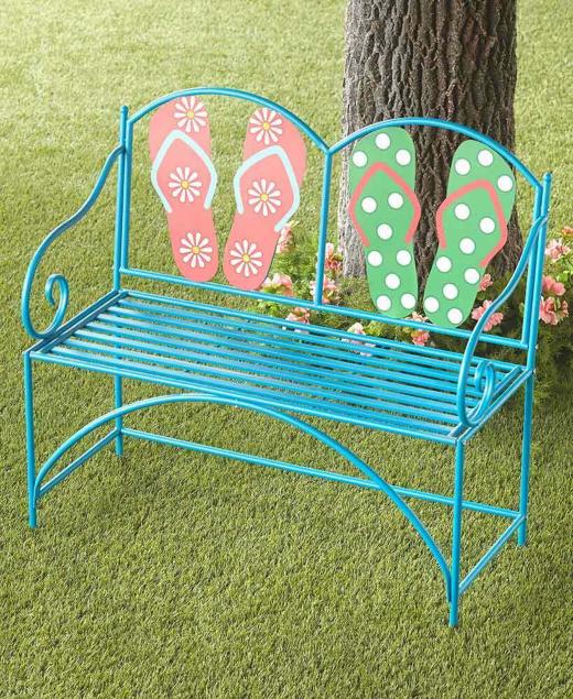 Flip Flop Metal Garden Bench