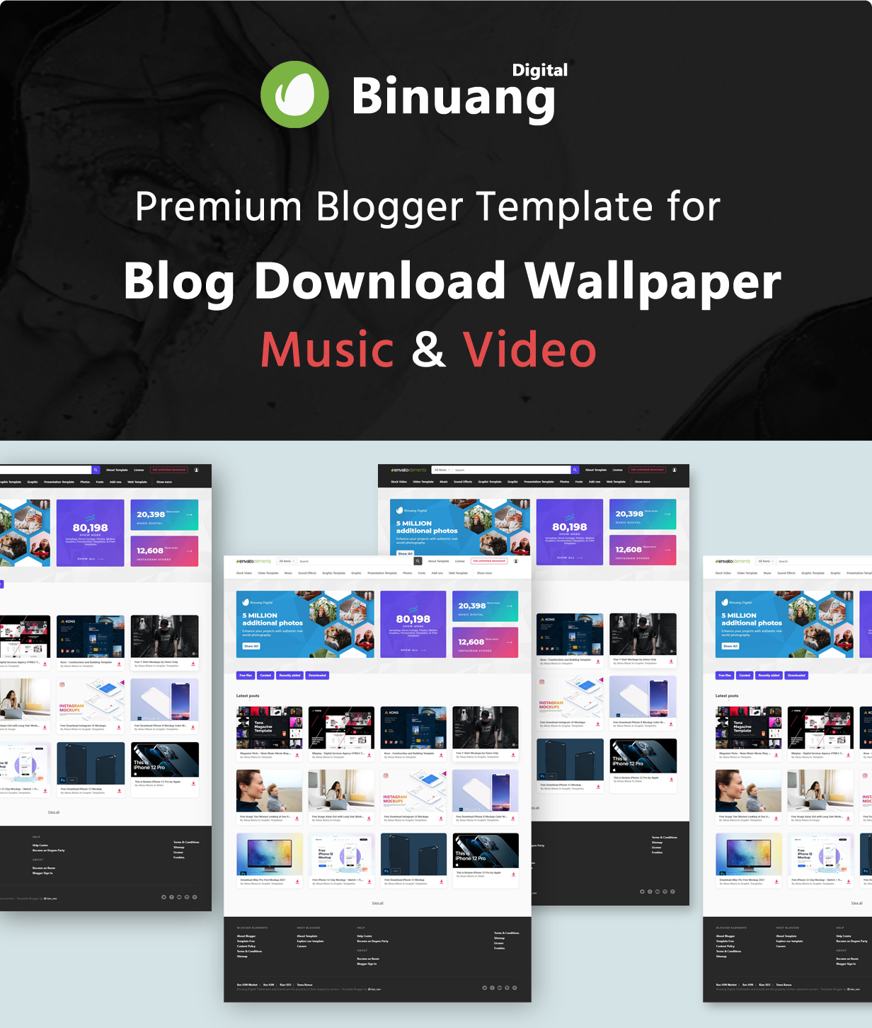 Binuang Digital - Blogger Template for Blog Download