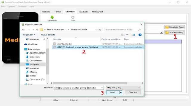 Cómo flashear Rom stock Alcatel OT Pop D1