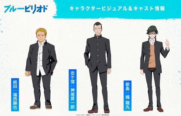 Blue Period anime - personajes