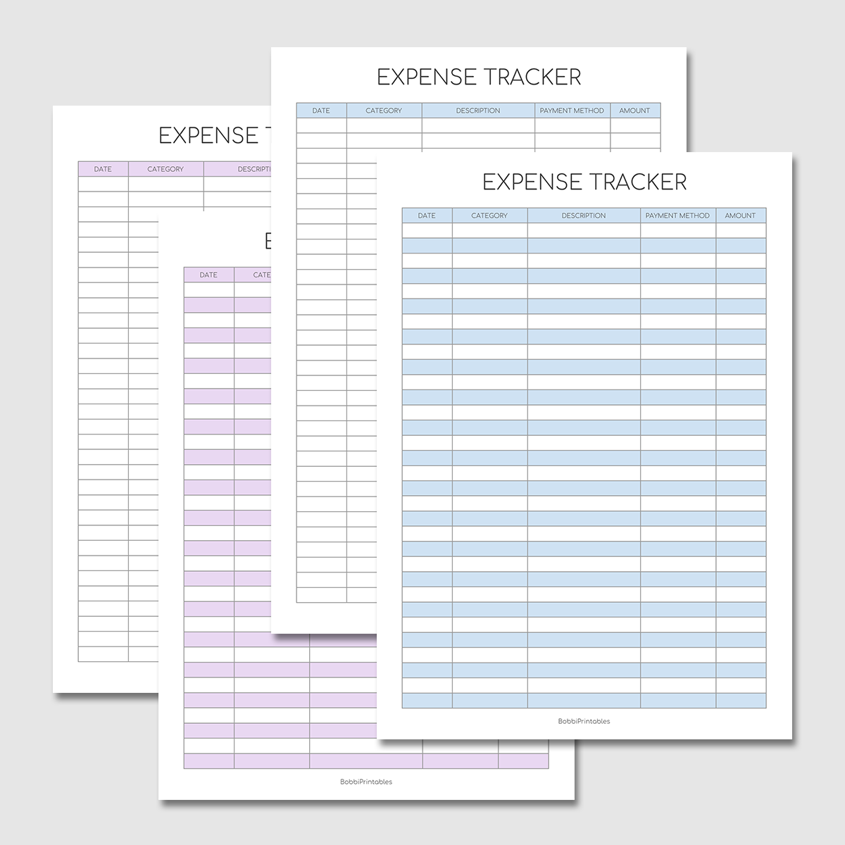 Keep track of purchases and other expenses by recording the payment method, type of transaction, amount of payment, and other details. Printable Expense Tracker