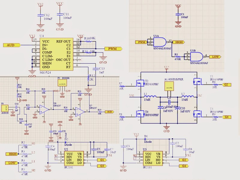 Shorted Wire: CLASS D AMPLIFIER BASED ON SG3524 PWM IC #11