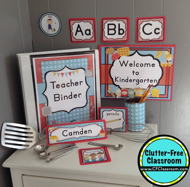 Classroom Decoration Printables ~ Cooking themed classroom ideas printable