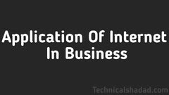 Application Of Internet For Business