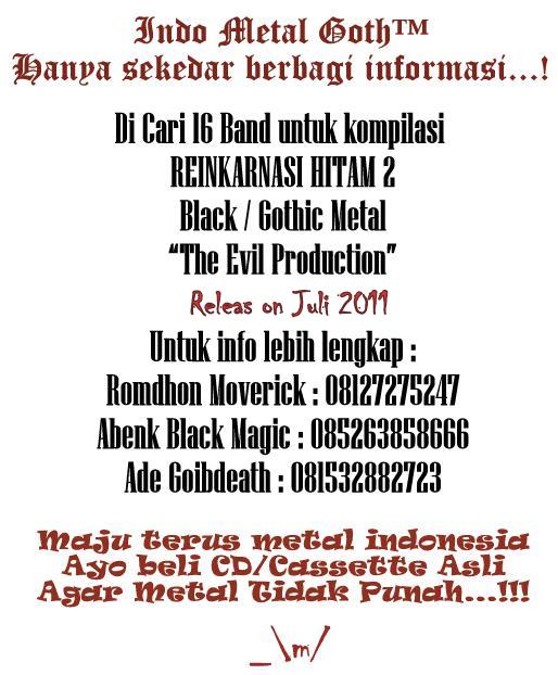 Wanted 16 Band For Compilation Reinkarnasi Hitam 2