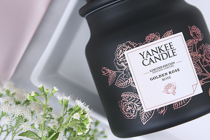 świeca yankee candle golden rose z gold collection
