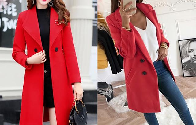 Красное пальто - это стильно и модно