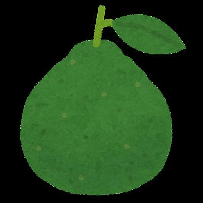 緑色のベルガモットのイラスト