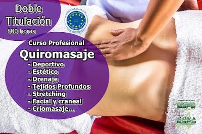 Cursos masaje acreditaciones internacionales