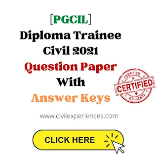 [PGCIL] (NR-I) Diploma Trainee Civil 2021 Question Paper With Answer Keys   PGCIL Previous Years Paper With Answer Key