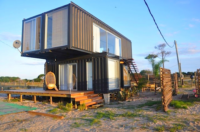2x40 ft and 2x20 ft Shipping Container Home by Project Container, Uruguay 3