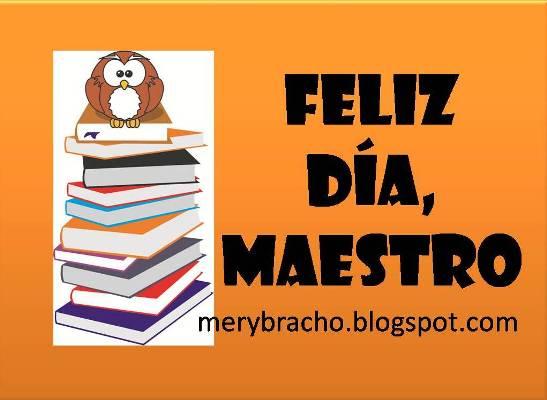 imagen de feliz dia del maestro con buho y libros felicitaciones al maestro