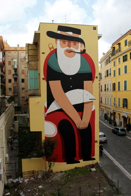 Уличный художник из Италии. Агостино Якурчи (Agostino Iacurci) 35