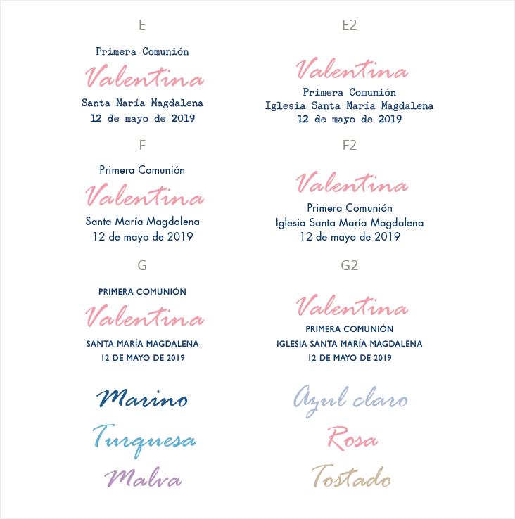 tipografias invitacion de comunion
