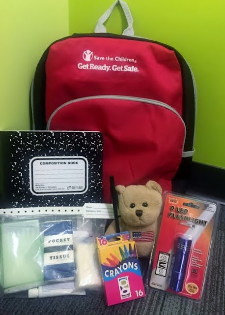 Emergency go to bag for kids #nationalpreparednessmonth