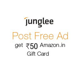 Post Ad on Junglee & Get Rs 50 Amazon Gift Voucher