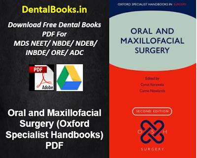 Oral and Maxillofacial Surgery (Oxford Specialist Handbooks) PDF
