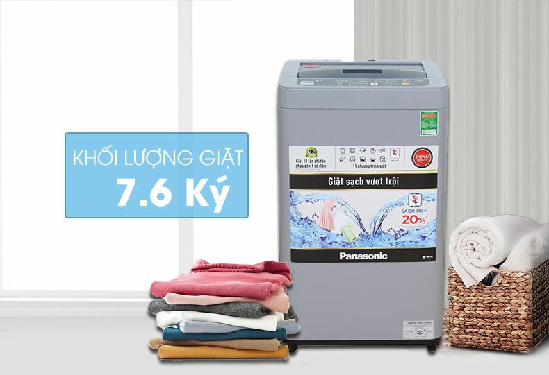 Thiết kế nắp Máy giặt Panasonic NA-F76VS9GRV làm từ kính chịu lực có độ bền cao