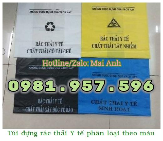Túi rác Y tế bệnh viện, túi rác Y tế cho thùng 90L hoặc thùng 120L