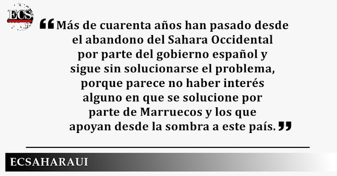 España no debe seguir dando la espalda al pueblo saharaui.