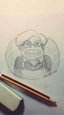 Hoy Hayao Miyazaki cumple 77 años. Felicidades Maestro | Dibujo de Carlos