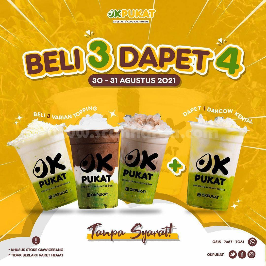 Promo OKPUKAT Terbaru BELI 3 DAPET 4
