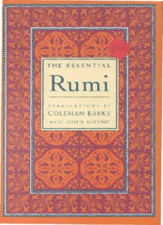 download The Essential Rumi by Coleman Barks pdf