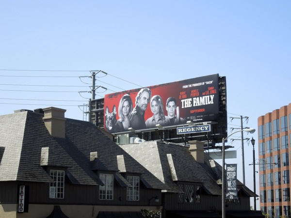 The Family movie billboard