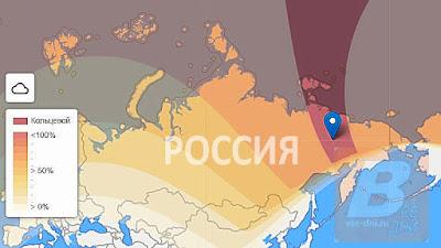 во сколько и где будет видно в России, карта