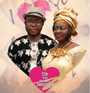 Charming Nigerian couple, Cy Robinson, Princess Robinson Celebrate 13th Year Wedding Anniversary
