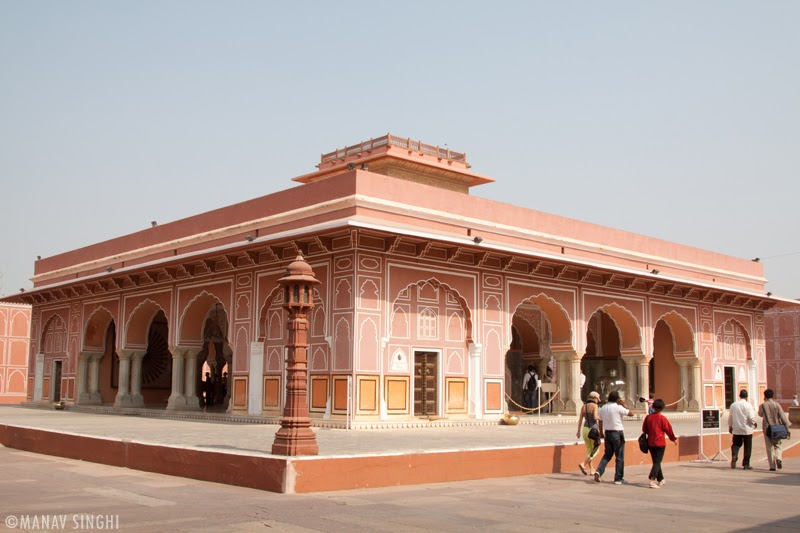Diwan-e-Khas, Jaipur at The City Palace, Jaipur.