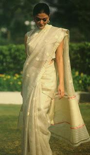 Aishwarya Rai White Saree