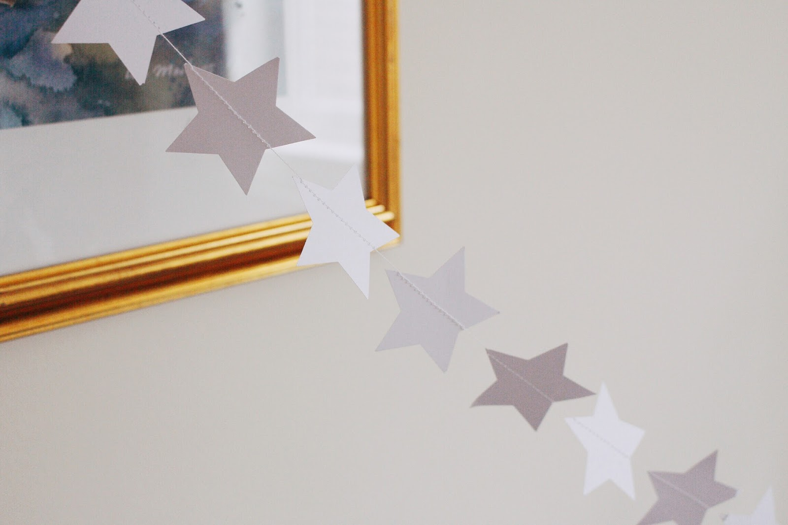 etsy fox and alice paper star garland