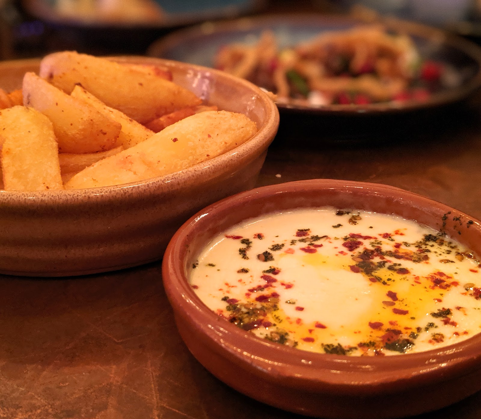 10 Reasons to Visit Harissa Kitchen, Newcastle  - chips and fondue