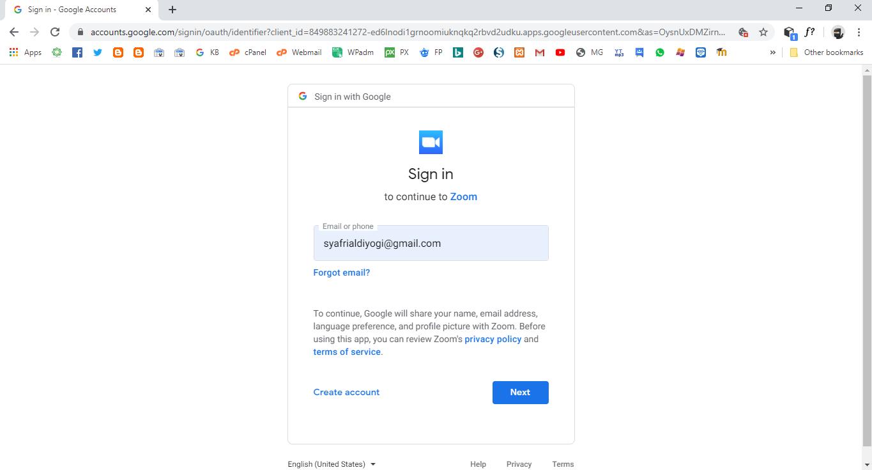 Cara Join Meeting di Zoom Browser