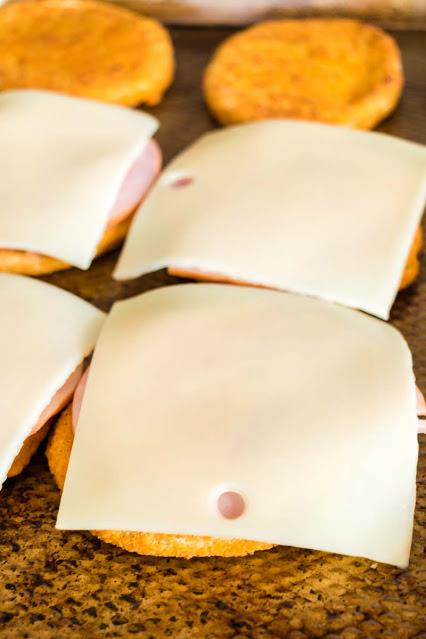 chicken patty  ham and cheese