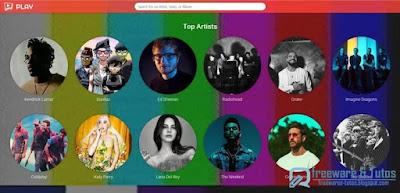 Play : un service d'écoute en ligne + bonus