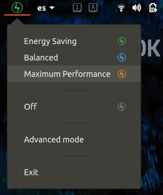 Configuração de bateria Ubuntu