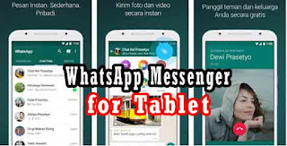 Free Download WhatsApp Messenger untuk Tablet / Tab 4, Tab 3, Tab 2