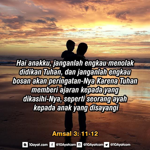Amsal 3:11-12